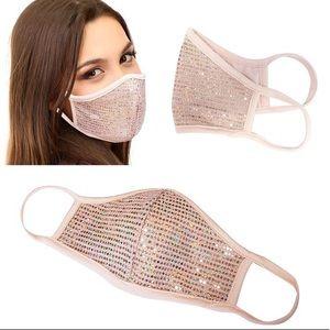 BEST SELLER Rose Gold Hologram Sequin Face Mask